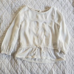 White Blouse with Lace Detail(Size 2-3 yrs)